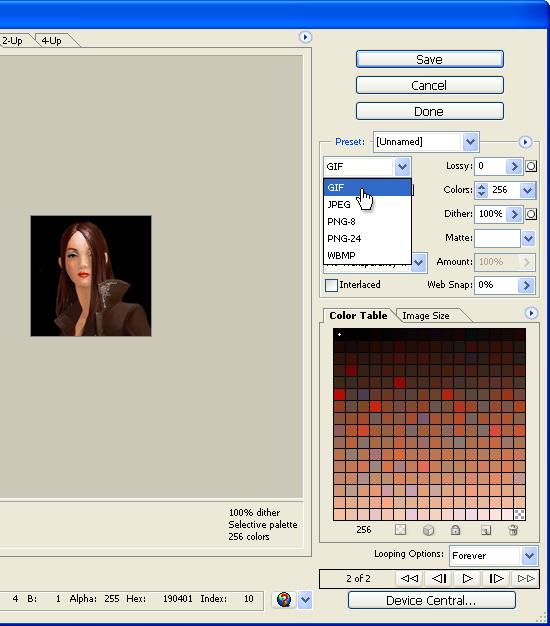 Сохраняем анимированную аватарку в Photoshop