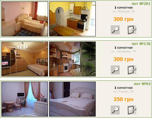 Пример сайта о квартирах во Львове