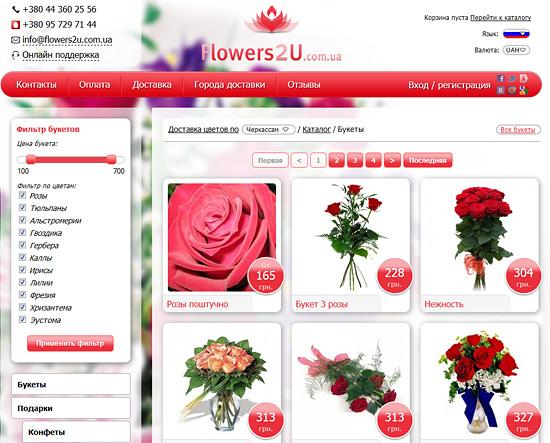 Статьи о флористике для веб-магазина