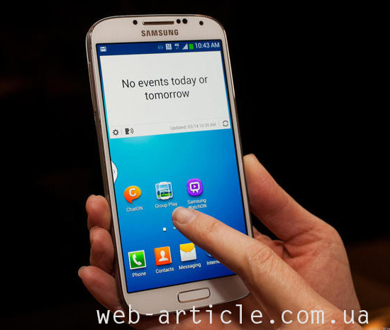 Новый смартфон Samsung Galaxy S4