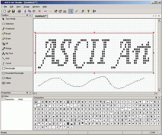 Пример ASCII редактора