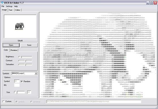 Программа Ascii Art Maker
