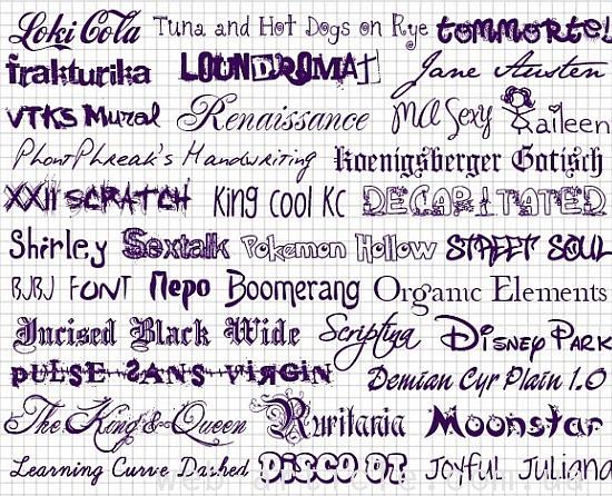 семейства шрифтов