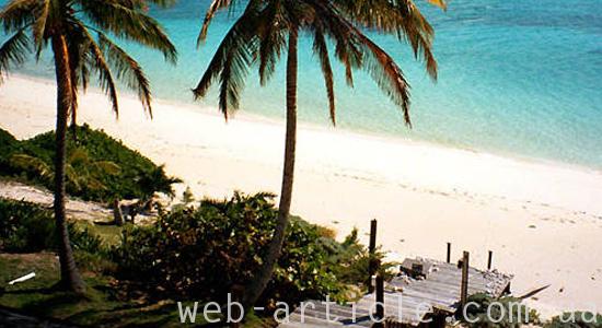 Красивый остров для отдыха от веб-дизайна