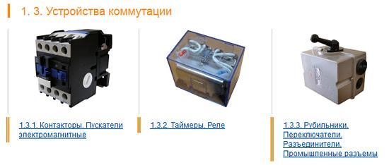 Примеры коммутационных устройств