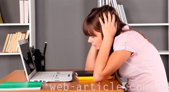 Студентка ищет работу в интернете