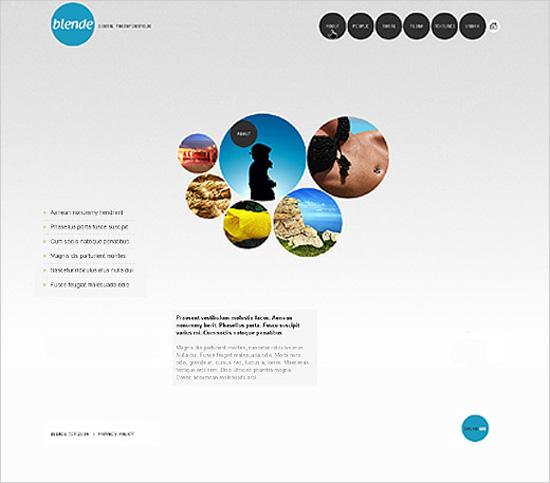 Пример лаконичного дизайна сайта №2