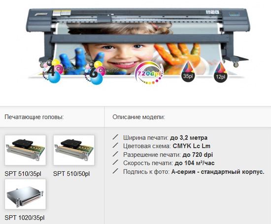 Широкоформатный принтер А-серии