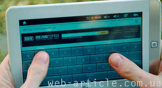 интернет с планшета