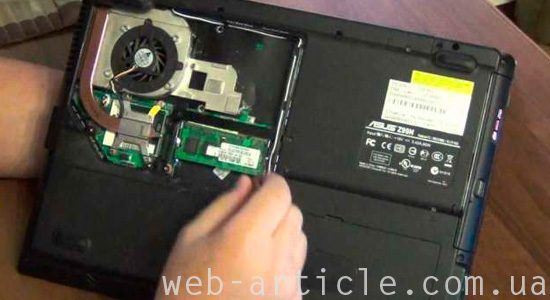 оперативная память ноутбука