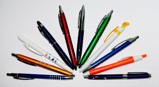 логотип на ручках