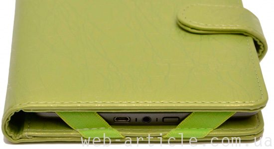 зеленый чехол для электронной книги
