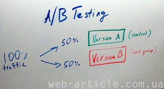 сплит тестирование для web-страниц