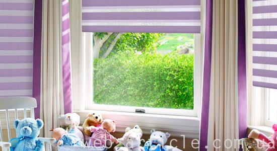рулонные шторы а детской комнате