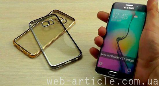 смартфон и прозрачные силиконовые чехлы