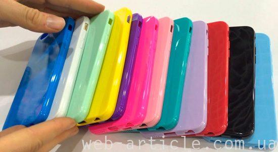 яркие силиконовые чехлы для смартфонов