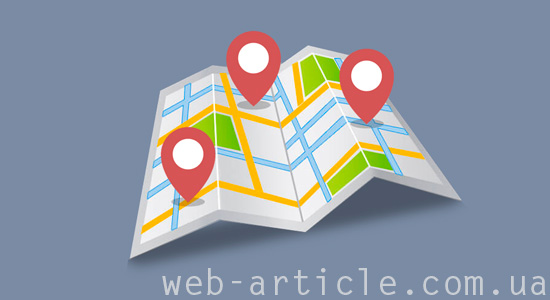 карта в «Google Maps»